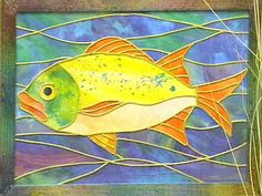 fish quilts to make   ... self-adhesive film to create quilt-like designs suitable for framing