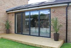 The award winning SUNFLEX aluminium bifold doors & SUNFLEX ultra-thermally efficient bifold doors are packed full of industry leading unique features. Bifold, House Extension Plans, French Doors, Rooftop Terrace Design, Remodel, Bifold Doors, Summer House, Folding Doors, Exterior Remodel