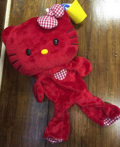 Build A Bear Red Hello Kitty Sanrio Unstuffed 18in Checkered Bow Plush | eBay
