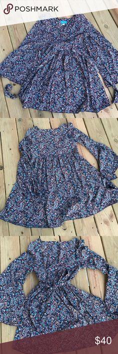 Shaye Blue Long Flowy Blouse/Dress So flattering and flowy! Shaye Blue Tops Blouses
