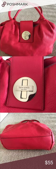 Kate spade purse, Coral Pebble Leather, EUC Kate spade purse, Pebble Leather, coral color.  Great used condition.  Inside very clean.  Great bag for summer!!! kate spade Bags