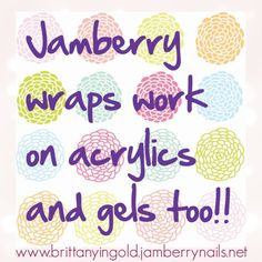 LOVE your Acrylics or Gels?! I Do!!! Jamberry Works on artificial nails too!!! www.MissBCurry.jamberrynails.net