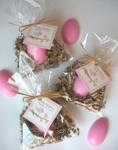 20 Egg Nest Nesting Bird Baby Shower Glycerin Soap Favors, via Etsy.