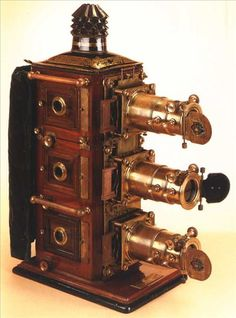 """~ Triunial Magic Lantern ~ """"This item was the precursor to projectors. Light is projected through slides to project images."""""""