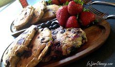 blueberry camping cakes vegan