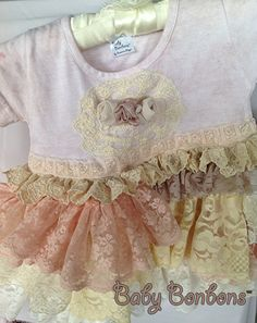 Vintage Lace embellished Knit Dress Birthday party by Babybonbons, $55.00