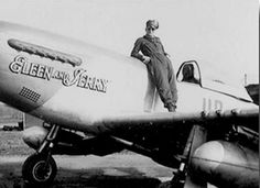 """Lt. Alden P Rigby. 487th Fighter Squadron. P-51D 44-15629 HO-R """"Eleen and Jerry""""."""