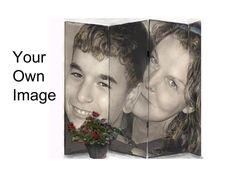 A creative personalized gift. Custom image on a room divider folding screen. NOW AVAILABLE!