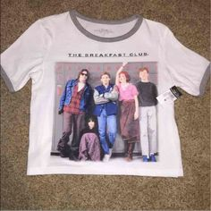 The Breakfast Club short sleeve crop top Medium, never worn, new with tags! Shows a little stomach (; Rue 21 Tops Tees - Short Sleeve