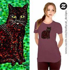 Handpainted black cat design from Mollycat's @zazzle collection. #blackcat #tshirt #tee #newtshirt #cats #dalerrowney #handpainted #catsagram #catoftheday #blackcats #catsofig #pussycat #猫 #katzen #catsofinstagram #instacat #petcat #mollycatfinland #katter #instalike #instalikes #cat #catseyes #meow #pets #coolcat #catlover #zazzle #zazzlemade #designs #catstuff