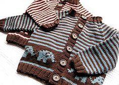 Ravelry: Bellyphant Baby Cardigan pattern by Jennifer Little