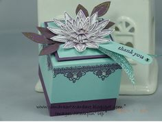 Sandra Ronald at ArteCardare shows you how to make this stunning Wedding Favour Gift Box. View video on website above.