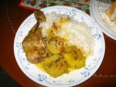 Colombian Cuisine, Comida Latina, Mexican Food Recipes, Food To Make, Rice, Eggs, Dishes, Chicken, Meat