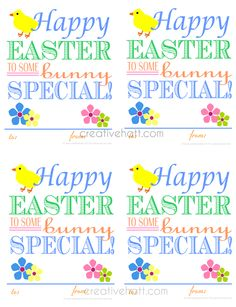 Free easter basket gift tags basket gift easter baskets and easter negle Choice Image
