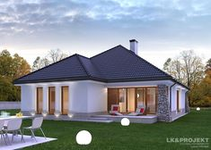 Design and technology Heating gas boiler windows and patio doors PVC businesses Oknoplast roofing ceramic plain tiles Wienerberger outer wall. Gas Boiler, Patio Doors, Czech Republic, Wonders Of The World, Luxury Homes, Gazebo, House Plans, Villa, Outdoor Structures