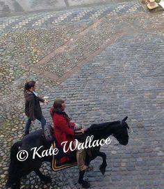 #TBT #TobiasMenzies working his horse at #CarlisleCastle before filming scenes for #WentworthPrison #Outlander #Season1 #BlackJackRandall #Carlisle #Cumbria #Drama #TvSeries #MyPicture