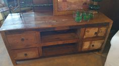 Reclaimed Wood Media Cabinet. #restylechicago #reluxvintage #resaleshop #resale #reclaimedwood #distressed https://www.instagram.com/p/BQq0Lr_gCOk/