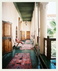 Summer balcony obsession in Morocco.