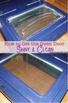An easy way to get your oven door clean. Mix baking soda and warm water to make a paste. Then smear all over glass. Wait 30 min and wipe clean.