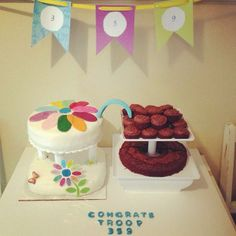 Girl Scout Daisy to Brownies Bridging Cake