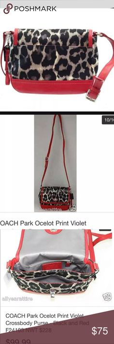 Coach cross body like new red and black Like new .purse OnLy . Wallet SOLD separate Coach Bags Crossbody Bags