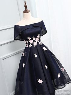 A-line Homecoming Dress Off-the-shoulder Juniors Homecoming Dresses SKY307