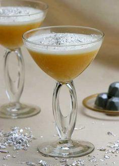 Caribbean Snowflake: Cruzan Single-Barrel Rum , St. Elizabeth Allspice Dram, Lime Juice, Grapefruit Juice, Simple Syrup, Egg White, Edible Silver Flake.