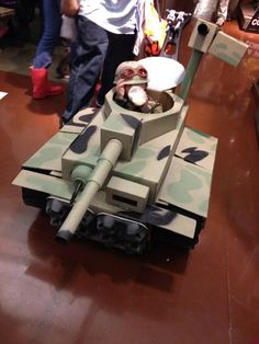 Another quick milk Break for my Son Tank Commander Brycen Conor with his Tiger Tank at Bass Pro Shop in Manteca Ca. Halloween Trick or Treat 2014