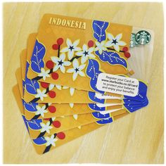 1st Special Edition Indonesia Starbucks Card✨