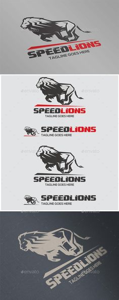 Speed Lions Logo Design Template Vector #logotype Download it here: http://graphicriver.net/item/speed-lions/11827245?s_rank=1650?ref=nexion