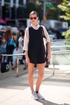 mini dress and chuck taylors