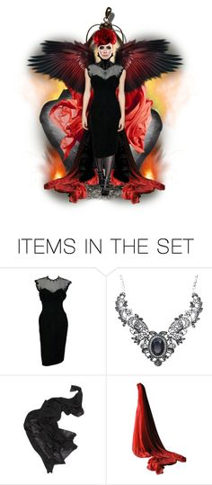 """Angel of Anger"" by kamkami ❤ liked on Polyvore featuring art"