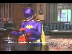 Batgirl - Theme song with lyrics -- Music video of Batgirl (Yvonne Craig), using her own theme song, with lyrics onscreen. Batman And Batgirl, Batman 1966, Batman And Superman, Batman Robin, Batman Tv Show, Batman Tv Series, James Gordon, Burt Ward, Yvonne Craig
