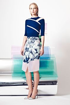 More of the Best Looks from Resort 2015  - HarpersBAZAAR.com *Colorblock MIX of PRINTS & Solids*