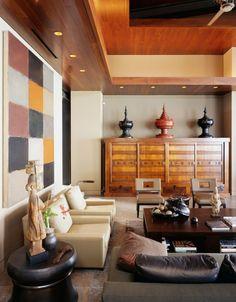 Tropical Atmosphere In Balinese Living Room Style