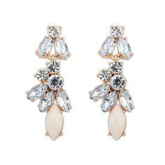 Cream Stone Drop Sparkle Earrings | Bling By Shauna