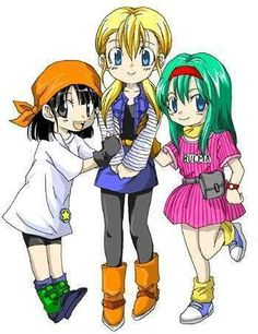 DBZ - Little girls with their mommy's signature outfit. :)