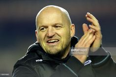 Glasgow Warriors coach Gregor Townsend applauds his side following the European Rugby Champions Cup game between Leicester Tigers and Glasgow Warriors on January 21, 2017 in Leicester, England. Photo by Malcolm Couzens/Getty Images)