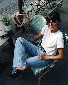 Denim | Style | Effortless | Outfit | Blue Jeans | White T-shirt | TheUNDONE.com