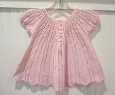 Vintage 1977 Pink Baby Girl's Crocheted A Line Dress Shirt Size 12 18 Months | eBay