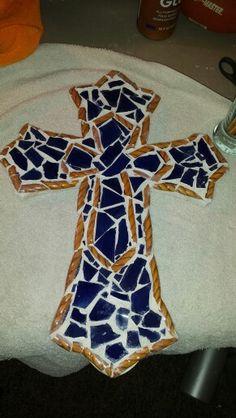 Broken plate cross