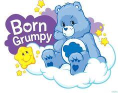 Born to be grumpy Care Bears Halloween Costume, Care Bear Costumes, Bear Halloween, Cartoon Costumes, Care Bear Birthday, Care Bear Party, Care Bear Onesie, Grumpy Care Bear, Care Bear Tattoos