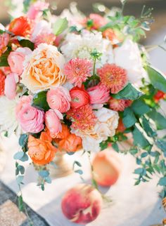 Peach Inspiration Shoot | Photography: Justin DeMutiis Photography - justindemutiisphotography.com