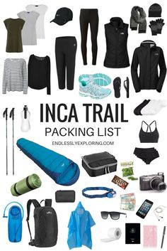A Guide to Hiking on the Inca Trail: Tips & Packing List - Camping Camping And Hiking, Camping Packing, Backpacking Gear, Hiking Tips, Hiking Gear, Hiking Backpack, Packing Tips For Travel, Camping Gear, Packing Lists