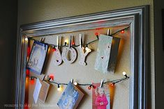 Framed Card Display: This framed card display is an excellent way to put out all your Christmas cards.