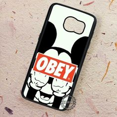 Obey The Mouse Cartoon Disney - Samsung Galaxy S7 S6 S5 Note 7 Cases & Covers