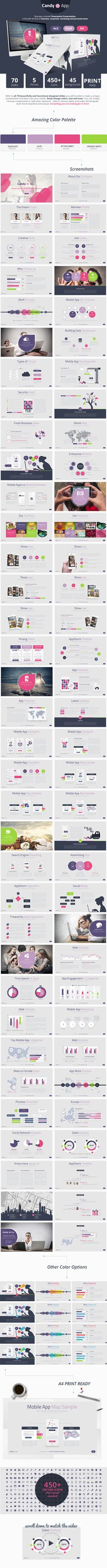 CandyApp Powerpoint Presentation Template #design Download: http://graphicriver.net/item/candyapp-powerpoint-presentation/12068022?ref=ksioks