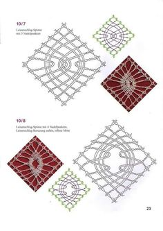 Risultati immagini per bobbin lace patterns free Hairpin Lace Crochet, Crochet Motif, Crochet Edgings, Crochet Shawl, Bobbin Lace Patterns, Bead Loom Patterns, Lace Earrings, Lace Jewelry, Bobbin Lacemaking