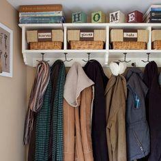 Organised cloakroom | Storage decorating ideas | housetohome.co.uk