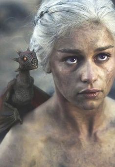 Game of Thrones-Daenerys Targaryen und Drogon